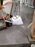 Polished, sealed Concrete Floors