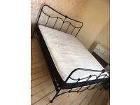 Next king size bed frame and mattress