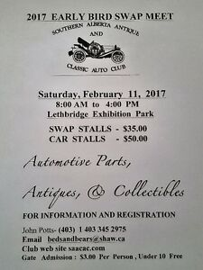 Lethbridge's  2017  Early Bird Swap Meet