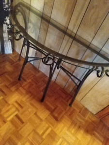 Console Table wroght Iron glass