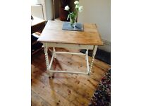 Pretty Vintage Shabby Barley Twist Table