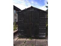 Garden shed 8x6 feet used wood wooden storage double door hut