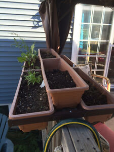 FREE: Deck Handrail Plant Holders