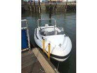 Naiad 4.3 Aluminium Hull 4 seat RIB Evinrude 75hp under warranty