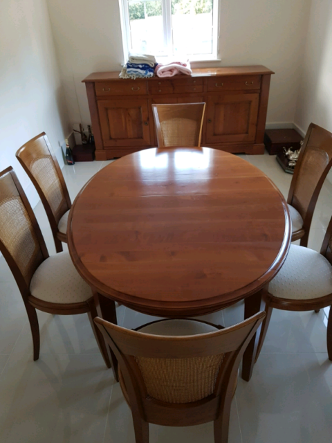 Stunning As New Condition Ernest Menard Cherrywood Table 6 Chairs In Warrington Cheshire Gumtree