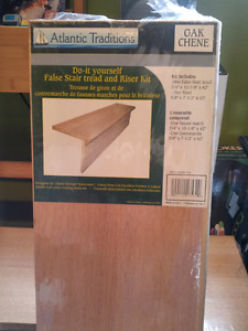 Stair and riser kit, oak