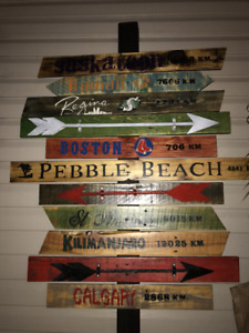 Personalized signs and Pallet furniture