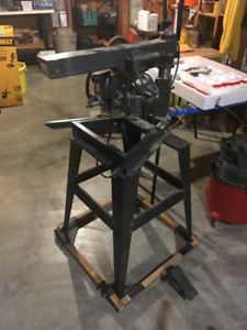 "10"" Radial Arm Saw w/ stand and mobile base OBO"