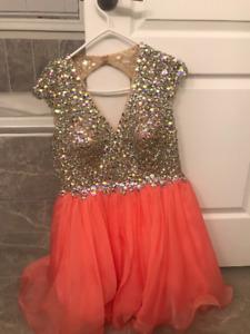 Fancy/Graduation short open back Dress
