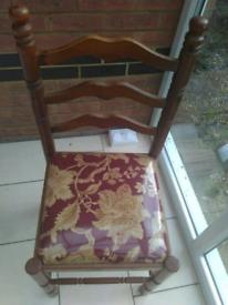 Designer wooden chair maroon