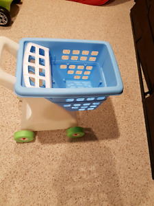 Kitchen and shopping cart toy