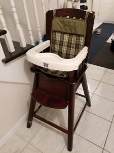 Wood high chair, Eddie Bauer. Make an offer!