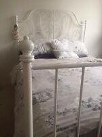 Ikea Queen Leirvik Bed Frame-NO MATTRESS/ Free Delivery