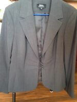 Ladies grey blazer. (Tribal).  Size12