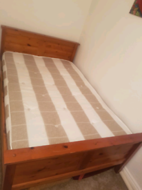 3/4 bed frame with mattress