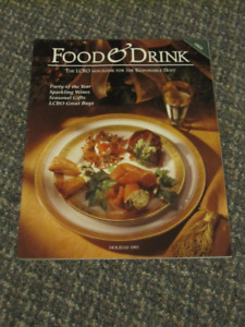RARE VINTAGE FIRST HOLIDAY ISSUE OF FOOD & DRINK MAGAZINE
