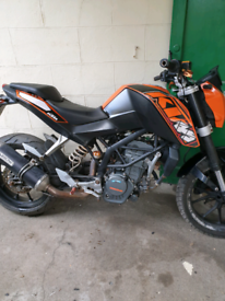Ktm duke 125 2011 swap for best 4 stroke off road bike, used for sale  Perth, Perth and Kinross