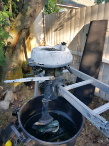 Antique outboard trolling engines