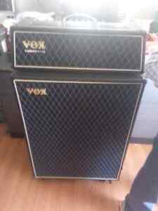 VOX Guitar amp anf head about 4  feet high