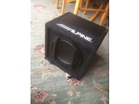 Alpine car subwoofer speaker / bass