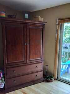 Solid Wood very large entertainment unit