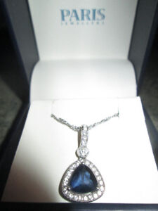 Diamong and Sapphire Necklace