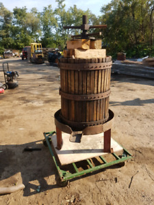 Antique grape press