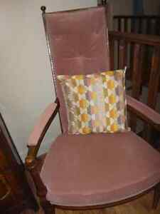 Antique-Rose High Back Accent Chair