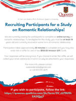 Recruiting Participants for a Study on Relationships