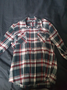 Mens plaid button up