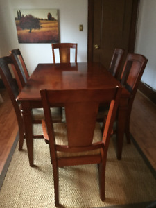 DINNING SET OAK WITH 6 CHAIRS