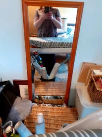 4ft long length mirror wooden frame