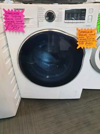 White samsung 8kg and 6kg load washer dryer