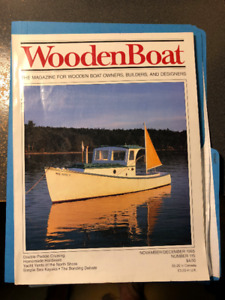 Vintage Wooden Boat Magazines.  100 copies.  1985 to 2006