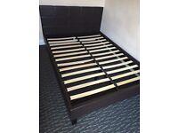 Double bed dark chocolate colour plus mattress