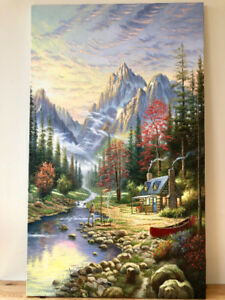 Thomas Kinkade - The Good Life - Reproduction Real Art Painting