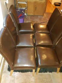 Dining room chairs in need of re-covering