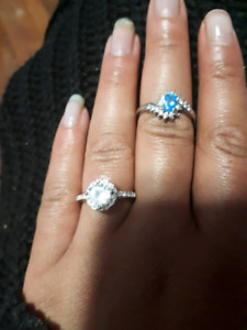 Beautiful silver rings for $40