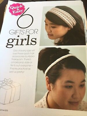 Ladies Girls Knitted Headbands Bangles Hair Accessories Pattern Simply Knitting for sale  Shipping to South Africa