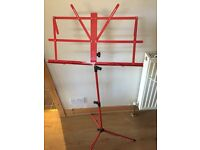 Red music stand