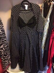 Plus size pin up dress