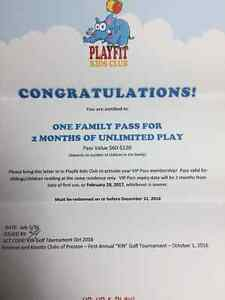 2 month free pass to playfit Cambridge Kitchener Area image 1