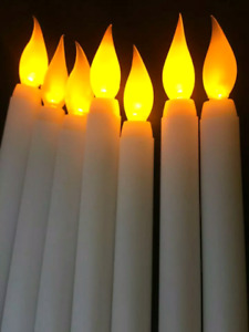 "11"" LED battery operated flickering flameless candles- Outdoor"