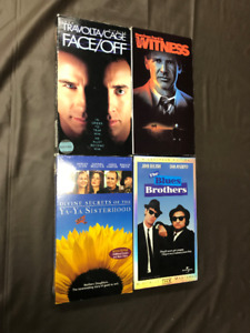 4 VHS movie lot! 2 factory sealed! Travolta, Cage & Ford! $5.00