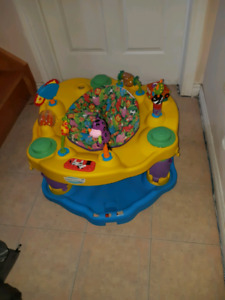 Bumbo, highchair and exersaucer