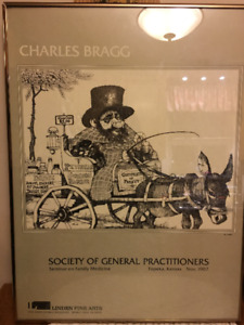 Vintage Society of General Practitioners Seminar Framed Poster
