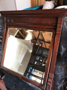 large antique swivel mirror