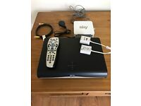 Sky +hd box with router