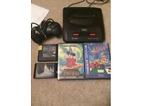 Megadrive console bundle with games