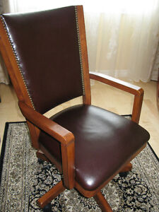 Solid Wood Office Chair.